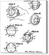 Baseball Training Device Patent 1961 Canvas Print