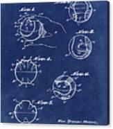 Baseball Training Device Patent 1961 Blue Canvas Print