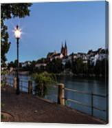 Basel At Night Canvas Print
