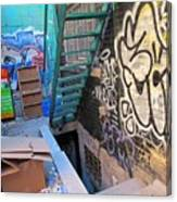 Basement Apartment In Graffiti Alley Canvas Print