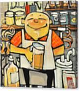 Basement Brewer Canvas Print