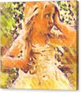 Bashful Canvas Print