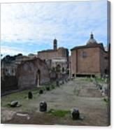 Basilica Aemilia From Behind Canvas Print