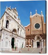 Basilica Dei Santo Giovanni E Paolo Canvas Print