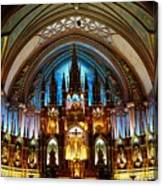 Notre - Dame Basilica - Montreal Canvas Print