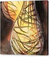 Basket Light Yellow Glow Canvas Print