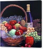 Basket Of Abundance Canvas Print