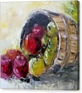 Basket Of Apples Canvas Print