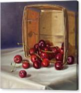 Basket Of Cherries Canvas Print