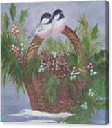 Basket Of Pine Canvas Print