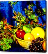 Basket With Fruit Canvas Print