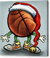 Basketball Christmas Canvas Print