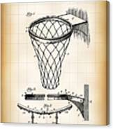 Basketball Goal Patent 1924 Canvas Print