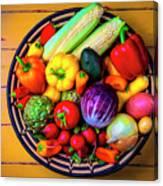Basketful Of Fresh Vegetables Canvas Print