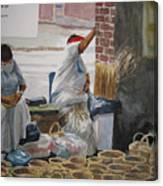 Basketweavers Canvas Print