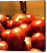 Basket Of Tomatoes M1 3309t2 - Photo Art Canvas Print