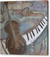 Bass And  Keys Canvas Print