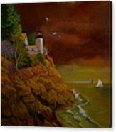 Bass Harbor Light Mt Desert Maine Canvas Print