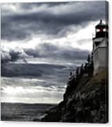 Bass Harbor Lighthouse In Acadia Np Canvas Print
