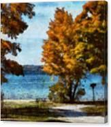 Bass Lake October Canvas Print