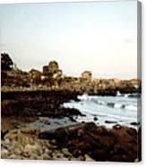 Bass Rocks Sunset Canvas Print