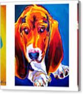 Basset Trio Canvas Print