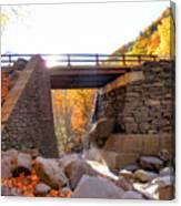 Bastion Falls Bridge 6 Canvas Print