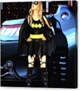 Bat Gal In The City Canvas Print