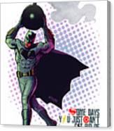 Batfleck And The Bomb 2 Canvas Print
