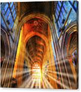 Bath Abbey Sun Rays Canvas Print