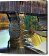 Bath Covered Bridge In Autumn Canvas Print