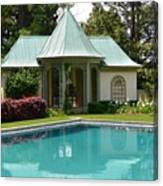Chanticleer Bath House A Canvas Print