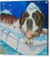 bath time Shnorbitz Canvas Print