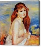 Bather 1887 Canvas Print