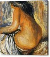 Bather From The Back Canvas Print