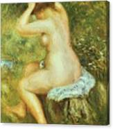 Bather Is Styling 1890 Canvas Print