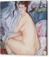 Bather  My Reproduction Of Renoirs Work Canvas Print