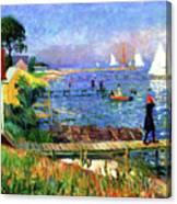 Bathers At Bellport Canvas Print
