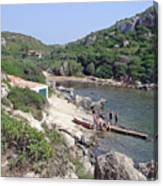 Bathers At Cales Coves Canvas Print