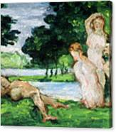Bathers Male And Female Canvas Print