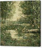 Bathers. Woodland Canvas Print