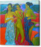 Bathing5 Canvas Print