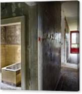 Bathroom In Deserted Building Canvas Print