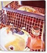 Bathroom Sink Canvas Print