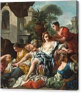 Bathsheba At Her Bath Canvas Print