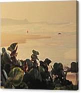 Bathsheba Beach Walk Canvas Print