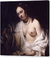 Bathsheba With David's Letter Canvas Print