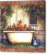 Bathtub Garden Canvas Print