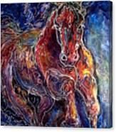 Batik Equine Abstract  Powerful By M Baldwin Canvas Print