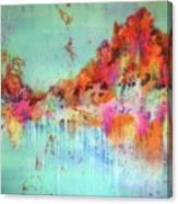 Batik Fall Silk Scarf Canvas Print